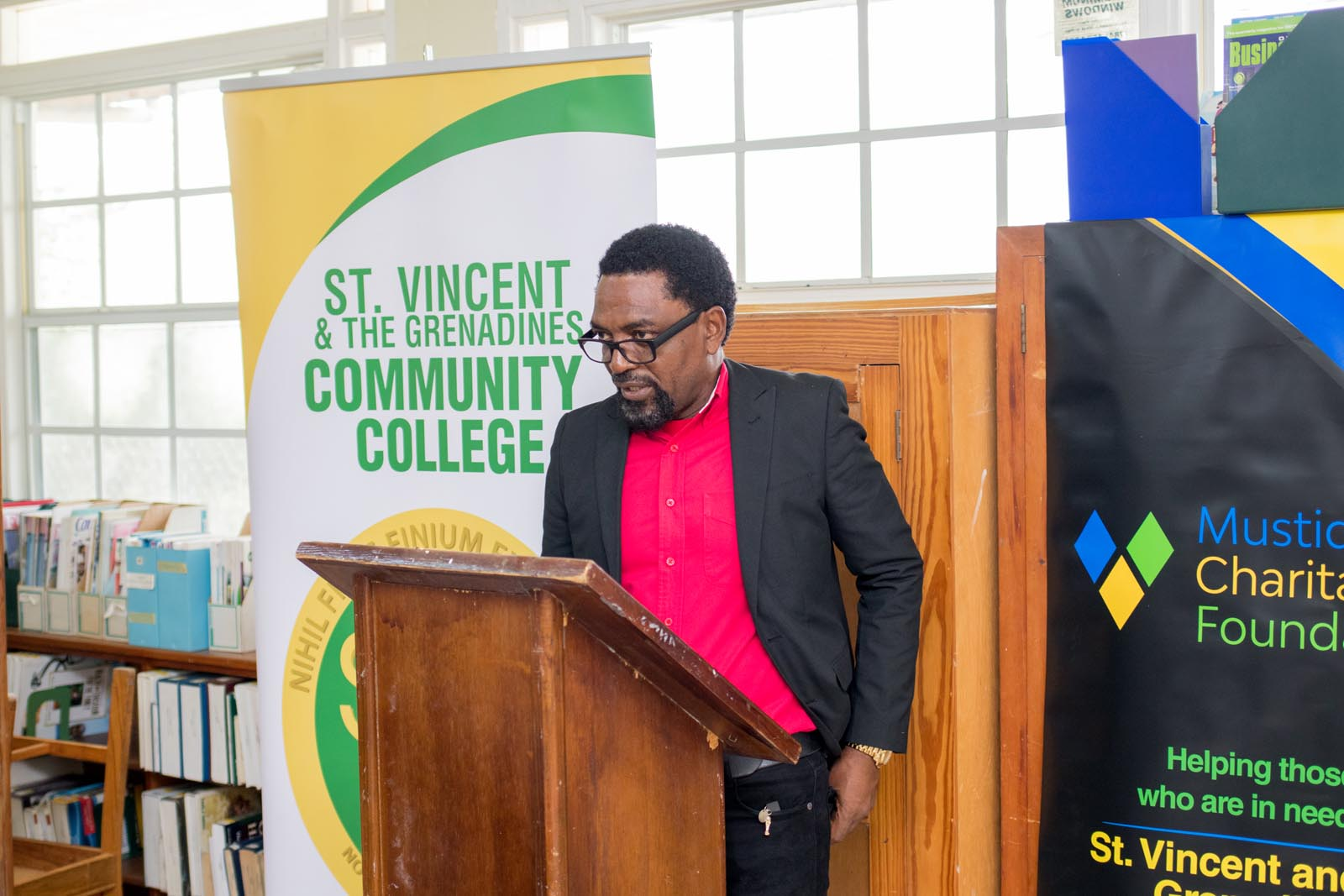 Osborne Bowens (Dean of the SVGCC: Division of Technical & Vocational Education)